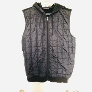 Michael kors navy blue zip up vest with hood